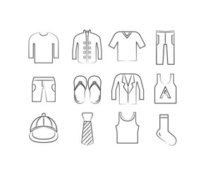 cloth and accessory icons