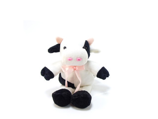 cut cow doll from soft fabric