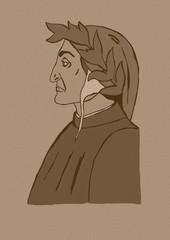 Vintage portrait of Dante