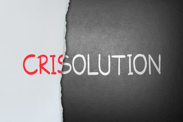 Solution for crisis