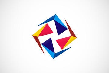 triangle shape abstract vector logo