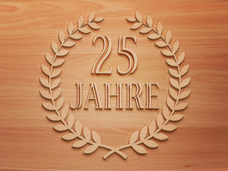 25 Jahre - Lorbeer - Holz H.