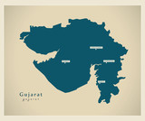 Modern Map - Gujarat IN poster
