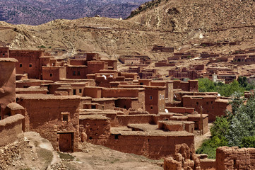 Morocco, picturesque small village in the desert