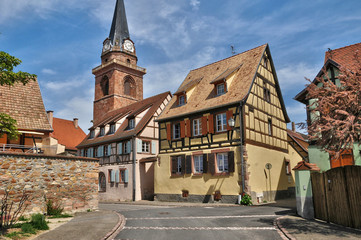 Haut Rhin, village of Bergheim  in Alsace