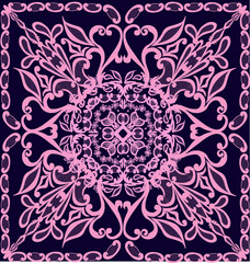lilac and pink square decoration
