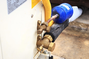 The air conditioner drip valve.