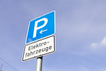 Parkplatz Elektrofahrzeuge