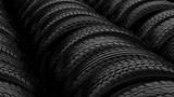 Car tyre wheels storage night black light poster