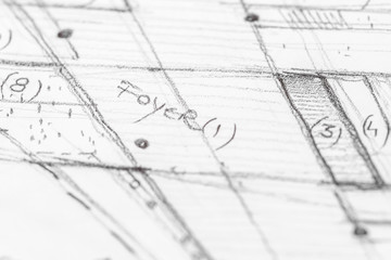 Architectural Sketch Close Up