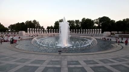 Time Lapse  of World War II Memorial - Washington DC
