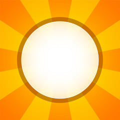 Yellow orange circular background with white hole in the middle