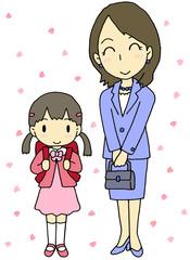 入学式 母 娘