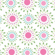 Seamless simple spring floral pattern vector