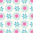 Seamless simple spring flowers pattern vector