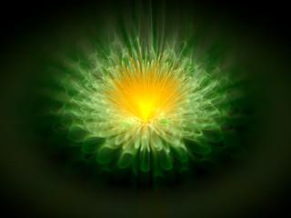 Green glowing magic space mandala