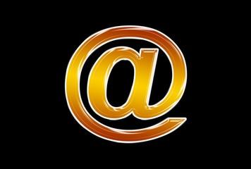 gold  e-mail symbol