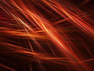 Hot glowing fiery lines fractal