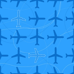 Flat styled seamless pattern with missing planes