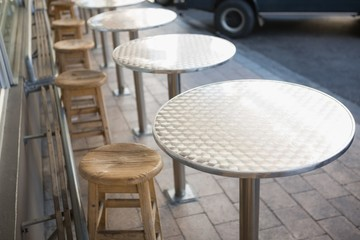 Stylish bar stool with table