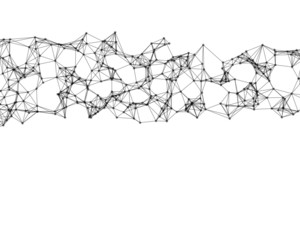 Illustration of black cybernetic particles