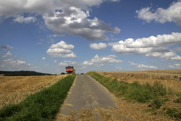 Sommerlandschaft mit Feldweg