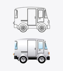 transport design, vector illustration