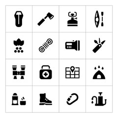 Set icons of camping
