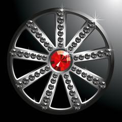 expensive silver diamond wheel