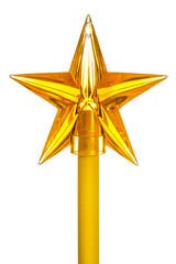 Decorative yellow star on stick