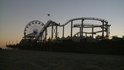 Amusement Park at Sunset - Clip 1