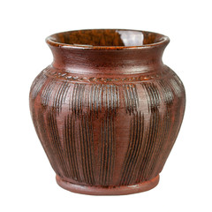 Brown clay bowl