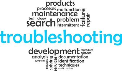 word cloud - troubleshooting