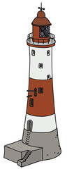 Hand drawing of an old lighthouse
