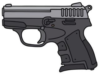 Hand drawing of a small handgun