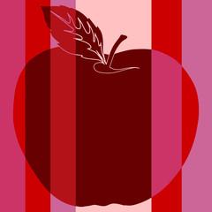 Pomme rouge pop