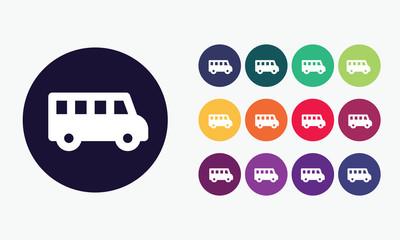 School bus icon 2.