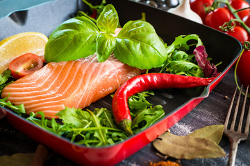 raw red fish