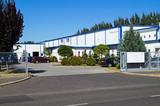 Warehouse building in the industrial park