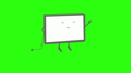 Running TV / Monitor With Legs / Living Screen / Bouncing