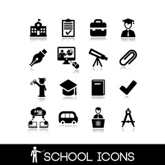 School icons set 4.