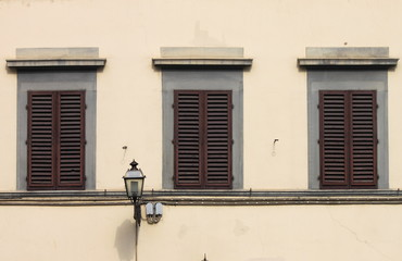 Renaissance windows in Florence, Italy