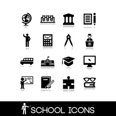 School icons set. Education set icons 5.