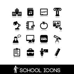 School icons set. Education set icons 6.