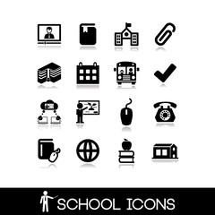 School icons set. Education set icons 7.