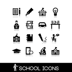 School icons set. Education set icons 8.