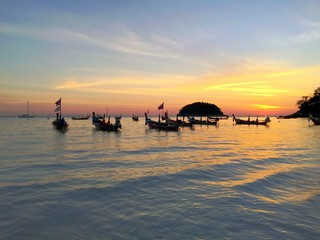 Kata beach sunset view