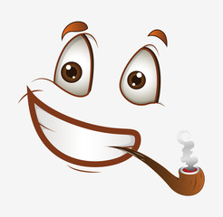 Smile Face with Cigar