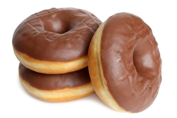 Fresh chocolate doughnuts
