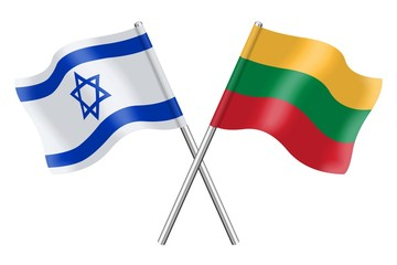 Flags: Israel and Lithuania